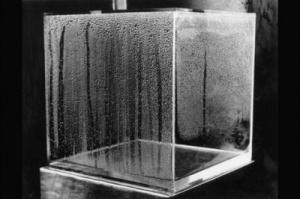Hans Haacke, Condensation cube, Acylic plastic, water, 1963-1965, © Hans Haacke:VG Bild-Kunst